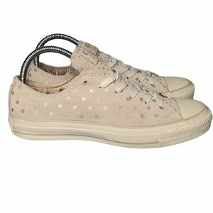 Converse suede with metallic dots sneakers